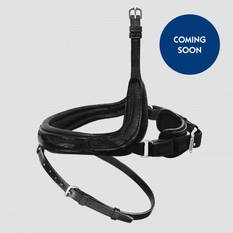 Exchangeable Noseband with More Room for the Cheekbone with Patent Leather