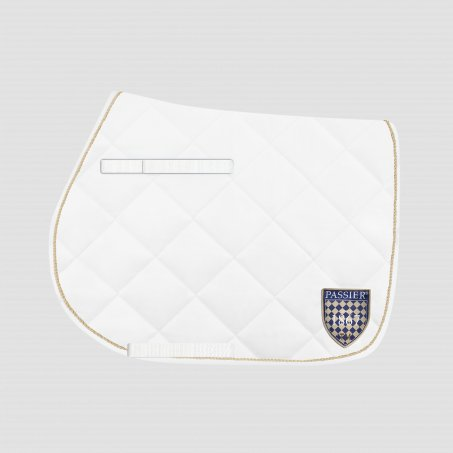 Breathable Saddle Cloth with Coat of Arms Jumping